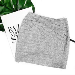 Torn by Ronny komo gray layered mini skirt